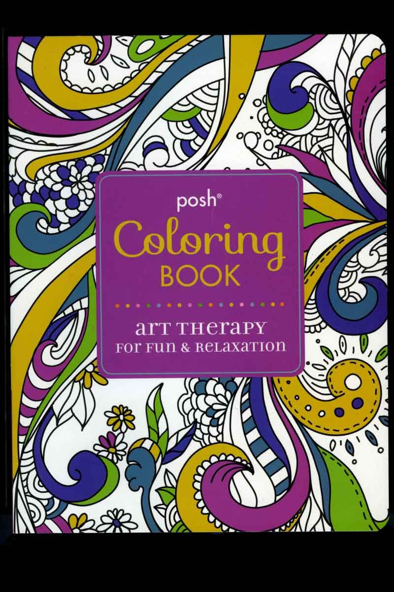 - Posh Coloring Book For Adults - Art Therapy