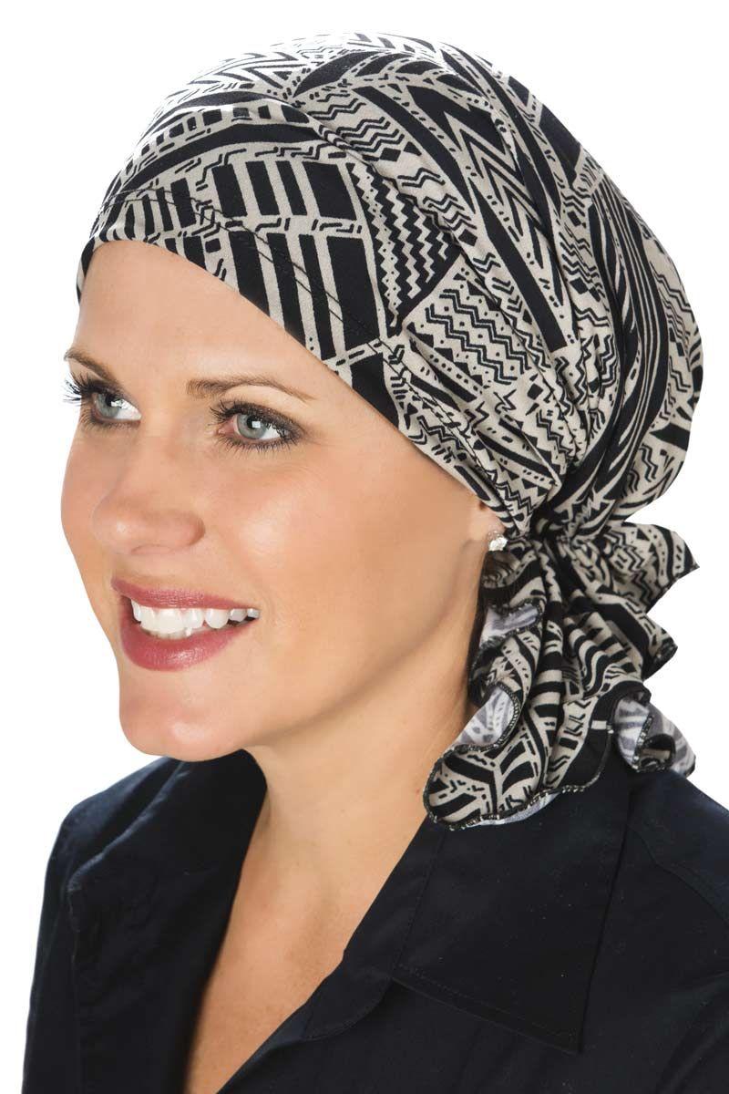2 Pieces Women Chemo Hat Turban Beanie Pre-Tied Headwraps Headwear Bandana for Hair Loss