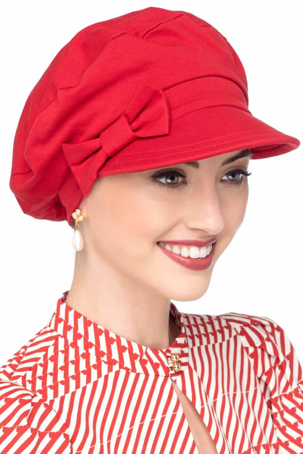 WETOO Cap and Scarf Set for Women Newsboy Cap with Scarf Double Loop Headwear for Chemo Hair Loss