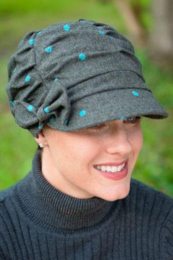 Julie Shirred Newsboy Hat