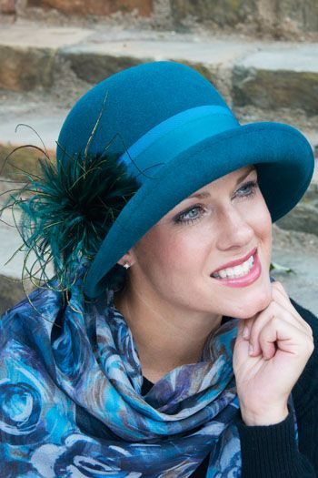 Camilla Feather Cloche Hat