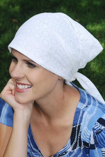 FACTORY SECONDS - Eyelet Emma Head Scarf - Slightly Imperfect