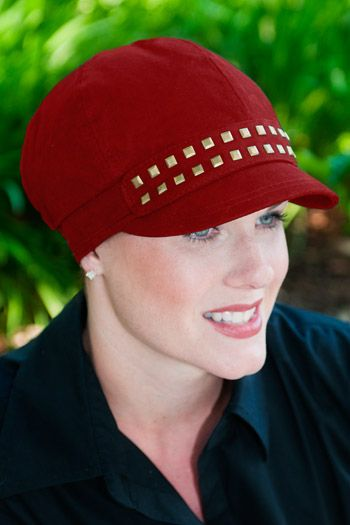 Wool Rachelle Hat with Studded Detail