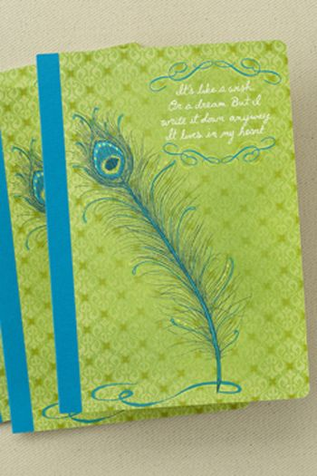 Her Words: Journal Composition Book- Peacock Feather |