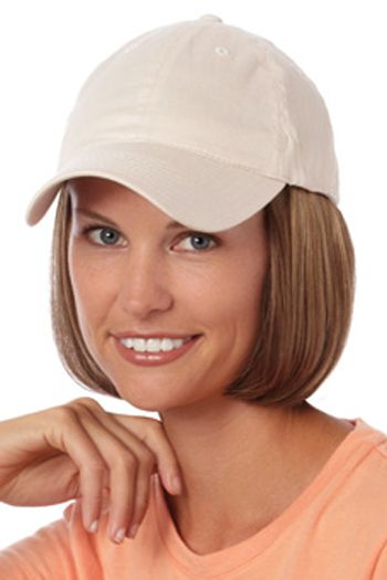 Baseball Cap with Hair: 8230 Shorty Hat Beige