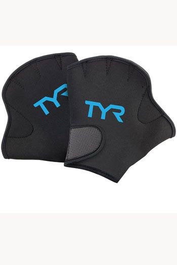 TYR Water Resistance Fitness Swim Gloves