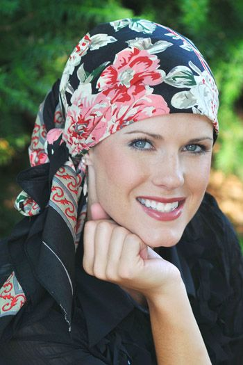 "English Roses | 100% Cotton Woodblock Hand Stamped Head Scarves | 36"" Square Head Scarf"