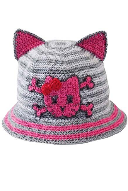 Kitty Cat Pirate Hat for Girls | Crocheted Hats for Babies