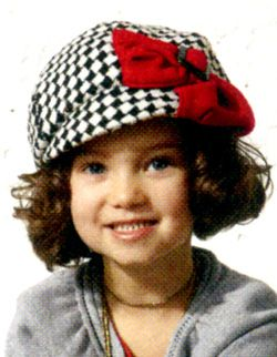 Houndstooth Bow Newsboy Cap for Girls |