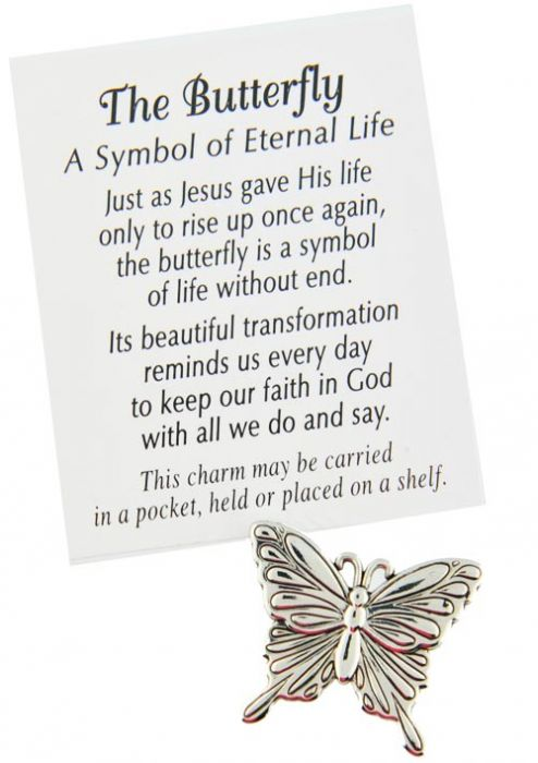 Silver Butterfly Pocket Token - Cancer Patient Gifts |