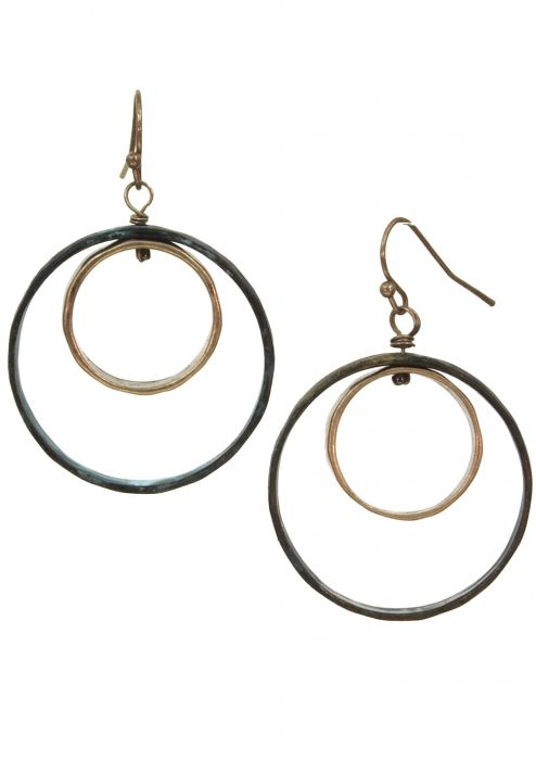 Concentric Circle Distressed Earrings | Nickel Free