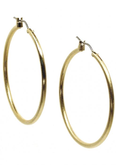 "Gold Plated Surgical Steel Earrings | 1.5"" Classic Gold Hoop Earrings"
