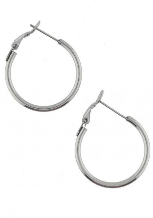 Basic Leverback Hoop Earrings - Hypoallergenic Stainless Steel