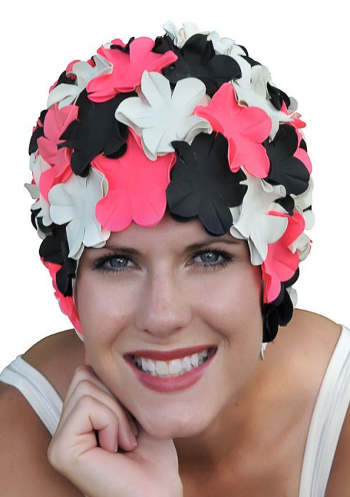 Retro Petal Flower Swim Caps | Jitter Bug