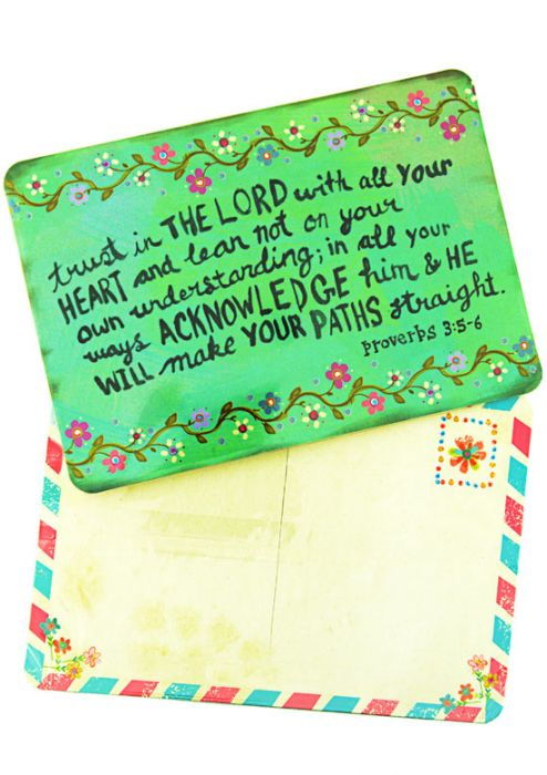 Magnetic Postcard - Trust in the Lord
