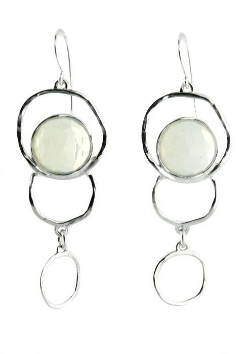 Opalite Multi Sphere Sterling Silver Earrings |