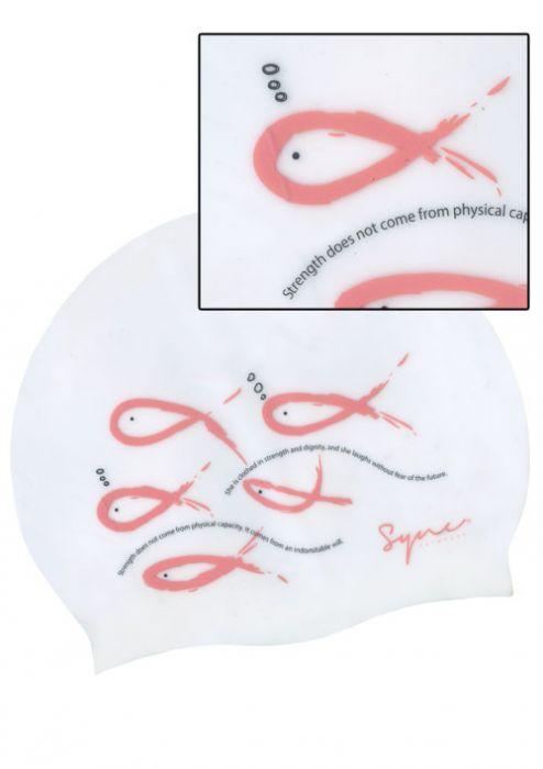 Pink Ribbon Breast Cancer Awareness Fishies Swim Cap