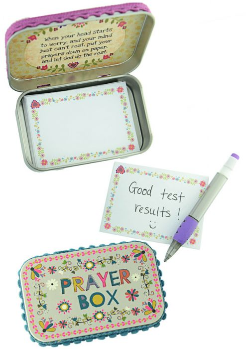 Little Tin Prayer Box with Notes - Cancer Patient Gift
