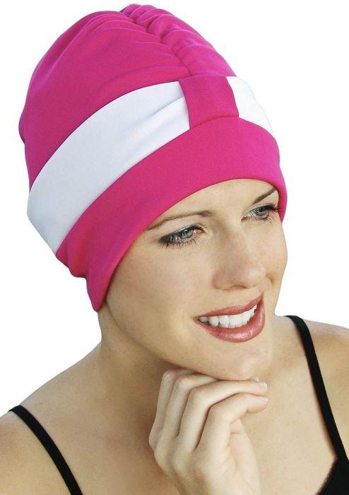 Retro Poly Two Tone Swim Turban