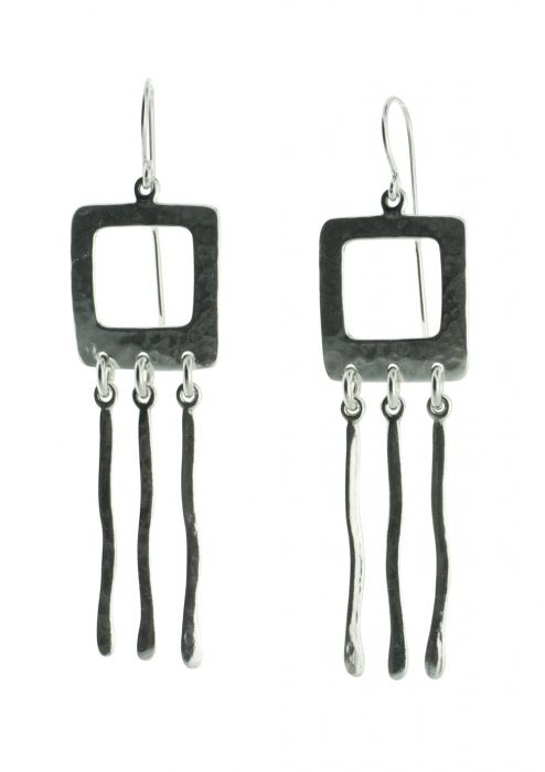 Square Wave Sterling Silver Earrings |
