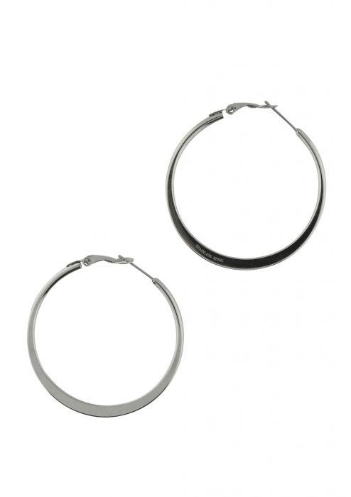 Classic Flat Hoop Stainless Steel Earrings