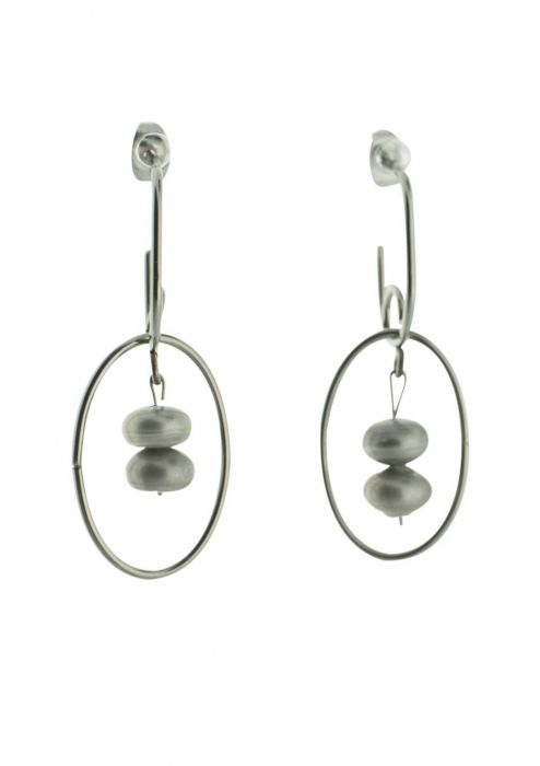 Stainless Steel Double Drop Dangle Earring