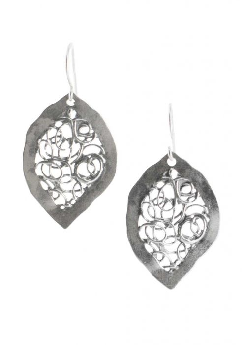 Sterling Silver Earrings | Abstract Leaves |
