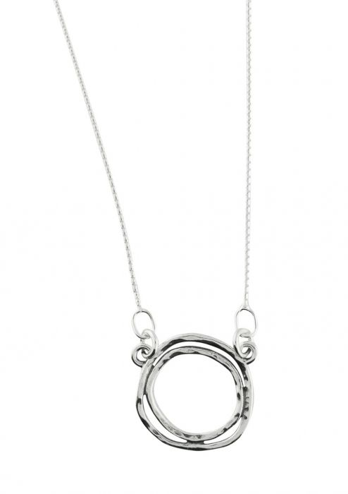 Sterling Silver Double Sphere Necklace