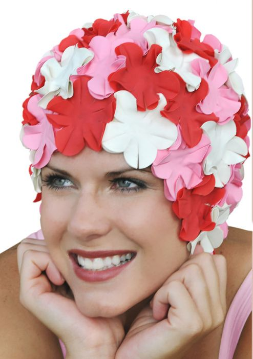 Retro Petal Flower Swim Caps | Limited Edition:  Sweetheart