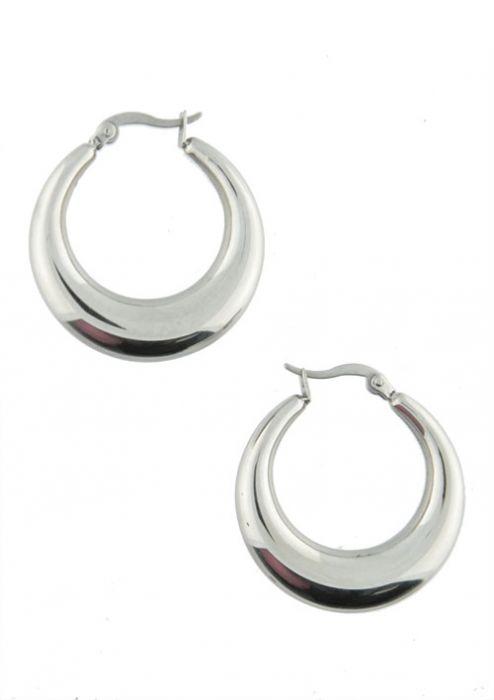 Classic Graduated Hoop Earrings in Hypoallergenic Stainless Steel  |
