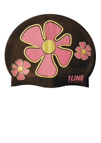 Flower Trio Silicone Swim Cap