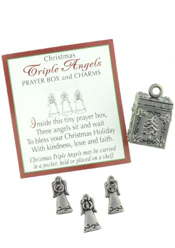 Little Christmas Angels Prayer Box and Charm