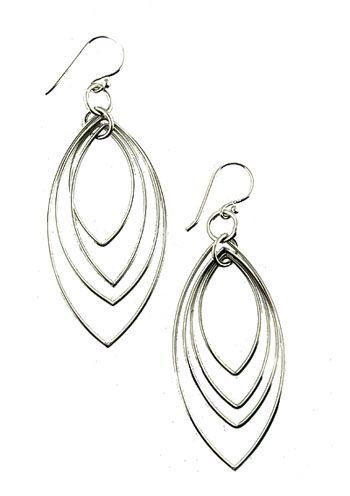 Sterling Silver Multi Teardrop Hypoallergenic Dangle Earrings