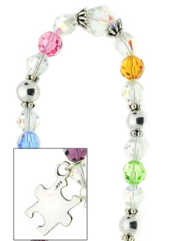 Autism Awareness Bracelet in Sterling Silver