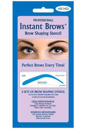 Peel and Stick Eyebrow Stencils- Arched Shape |