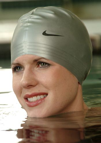 Nike Latex Swim Cap with Swoosh Logo