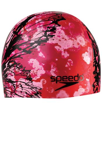 Speedo Silicone Butterfly Ink Swim Cap