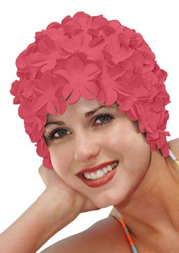 Retro Petal Flower Swim Caps