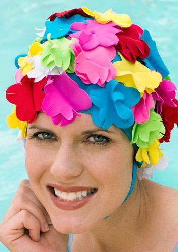 Speedo Vintage Bloomer Swim Cap with Flower Petals