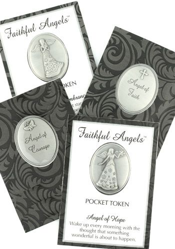 Faithful Angels Guardian Angel Pocket Tokens for Cancer Patients