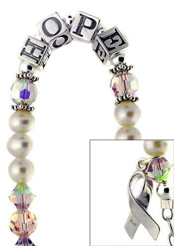 Pink Ribbon Bracelet - Hope Breast Cancer Bracelet