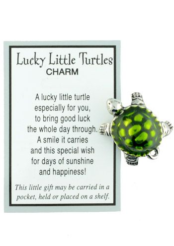 Lucky Little Turtle Charm with Card