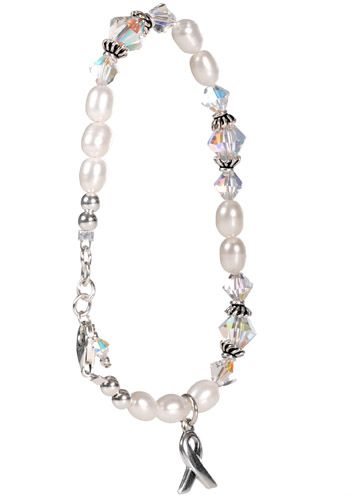 Emphysema Awareness Bracelet in Sterling Silver