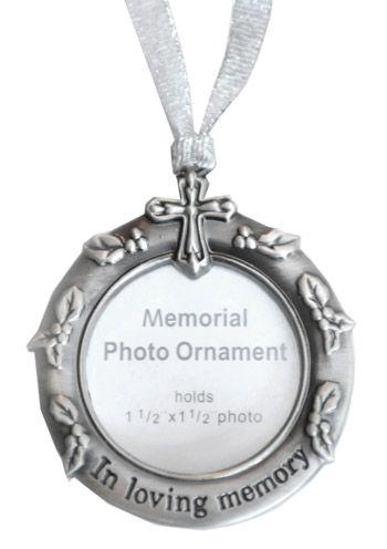 Memorial Christmas Ornaments: Photo Frame Christmas Ornament