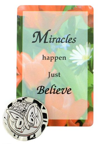 Miracles Happen - Card and Pocket Token for Cancer Patients  