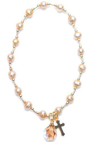 Mother's Freshwater Pearl Blessings Bracelet |