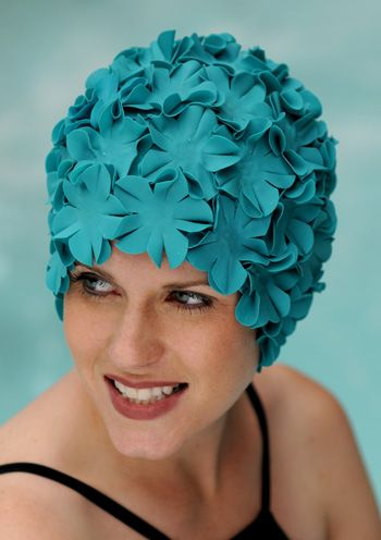 Petal Swim Cap in Teal