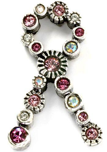 Patricia Locke Pink Ribbon Tack Pin - Breast Cancer Pin