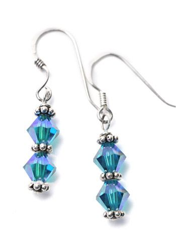 Sterling Silver Ovarian Cancer Awareness Earrings |