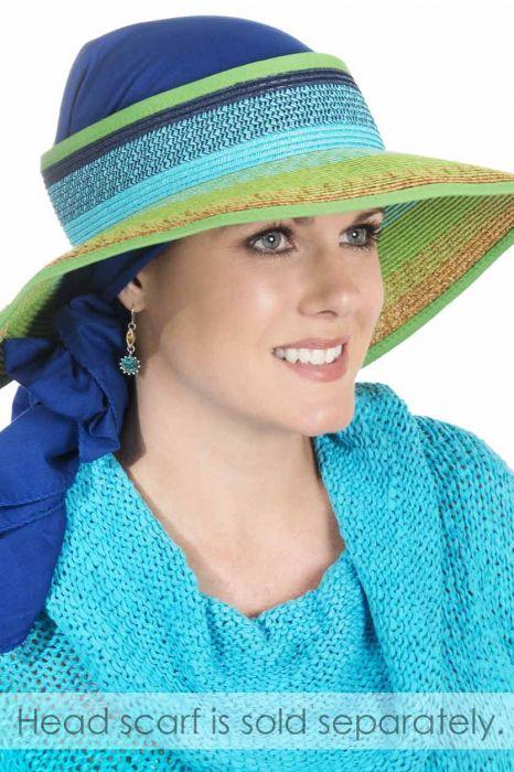 Vibrant Colorblock Sun Visor Hat for Women